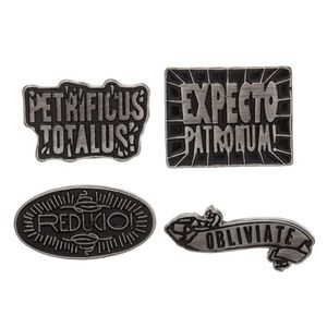 Harry Potter Spells Pin Set of 4 Expecto Patronum!
